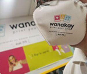 Mascarillas personalizables en Wanakay