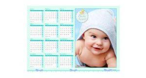 Calendario impreso para tu bebé