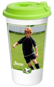 vaso termo impreso con futbol